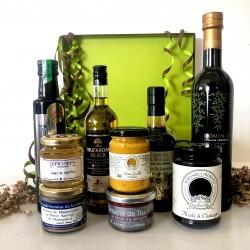 Coffret de Luxe Huile d'Olive * Pépins de Courge * Truffe Noir * Vinaigre Balsamique