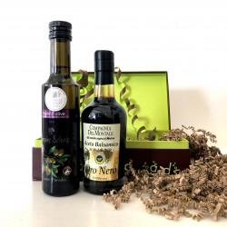 Coffret Huile d'Olive de Provence  & Vinaigre Balsamique