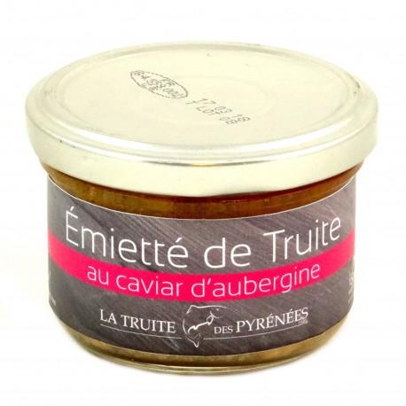 Truite des Pyrénées Caviar Aubergine